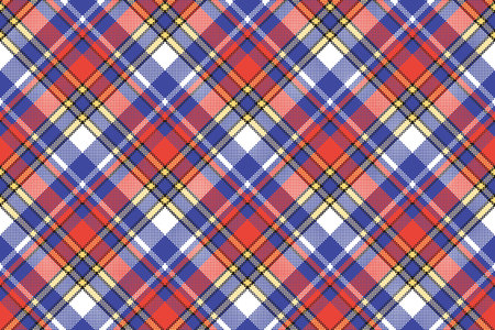 Modern check plaid seamless pattern. Vector illustration.  イラスト・ベクター素材