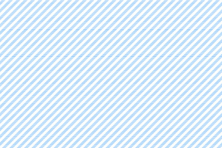 Blue white striped fabric texture seamless pattern. Vector illustration.
