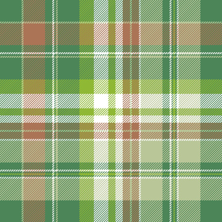 Green abstract modern plaid seamless pattern. Flat design. Vector illustration. Ilustrace