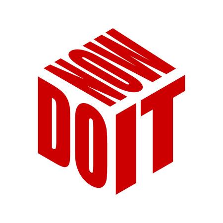 Tun Sie es jetzt, einfaches Textslogan-T-Shirt. Grafischer Phrasenvektor für Poster, Aufkleber, Bekleidungsdruck, Grußkarte oder Postkarte. Typografie-Design-Elemente isoliert.