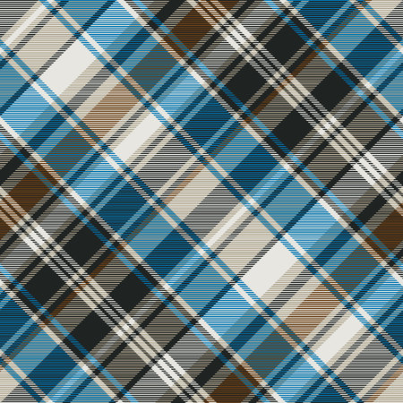 Striped check plaid seamless pattern. Vector illustration. Vecteurs