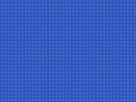 Blue plastic constructor seamless pattern. Abstract background blocks plate flat design vector