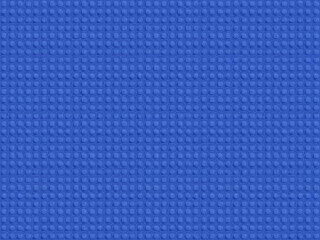 Constructor de plástico azul de patrones sin fisuras. Vector de diseño plano de placa de bloques de fondo abstracto