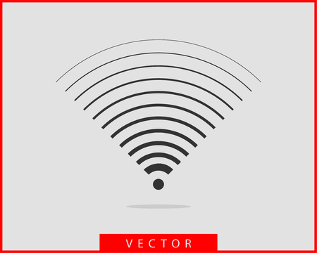 Free wi fi icon. Connection zone wifi vector symbol. Radio waves signal.