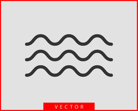 Waves vector design. Water wave icon. Wavy lines isolated. Illustration