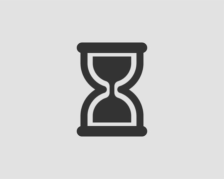 Hourglass icon flat design. Sand glass vector. Time concept.