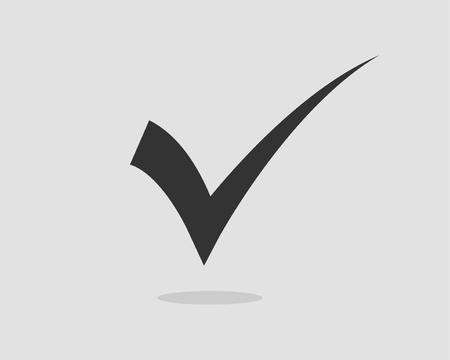 Check mark icon vector symbol design element.