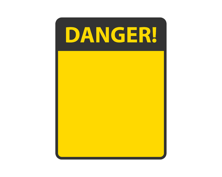 Danger sign isolated. Warning label empty template vector.
