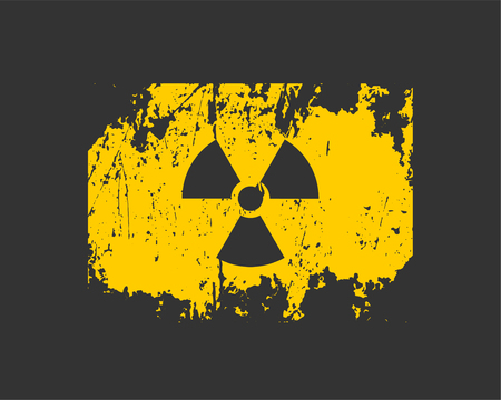 Radiation icon vector. Warning radioactive sign danger symbol. Reklamní fotografie - 124478277