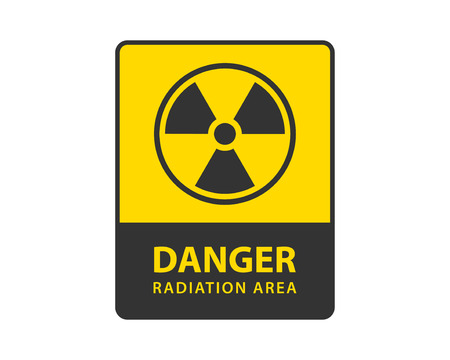 Radiation icon vector. Warning radioactive sign danger symbol. Reklamní fotografie - 124478684