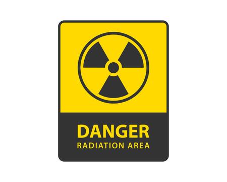 Radiation icon vector. Warning radioactive sign danger symbol.