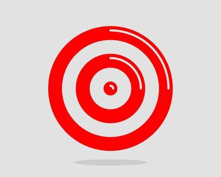 Target icon vector Vektoros illusztráció