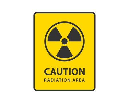 Vecteur d'icône de rayonnement. Symbole de danger de signe radioactif d'avertissement. Vecteurs