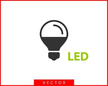Light bulb icon vector. Llightbulb idea logo concept. Lamp electricity icons web design element. Led lights isolated silhouette. Illustration