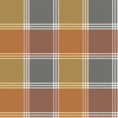 Retro fabric texture check seamless pattern. Vector illustration. Vector Illustration