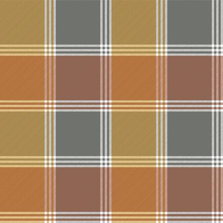 Retro fabric texture check seamless pattern. Vector illustration.