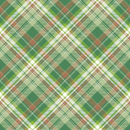 Green abstract modern plaid seamless pattern. Flat design. Vector illustration.
