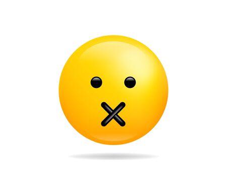Emoji smile icon vector symbol. Smiley face yellow cartoon character.