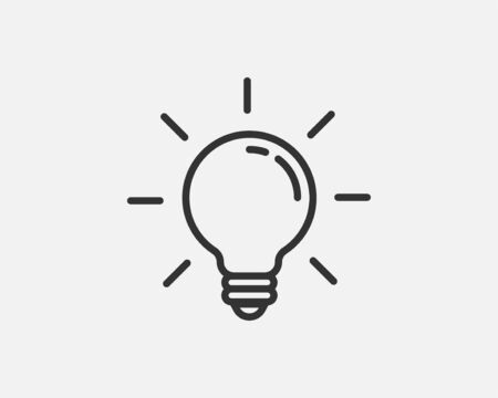 Light bulb icon vector. Light bulb idea icon concept. Lamp electricity icons web design element. Led lights isolated silhouette.