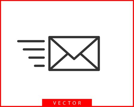 Envelope icons letter. Envelop icon vector template. Mail symbol element. Mailing label for web or print design. Illusztráció