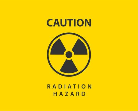 Radiation icon vector. Warning radioactive sign danger symbol. Vecteurs