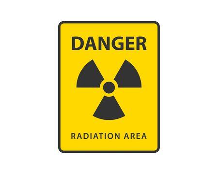 Strahlung Symbol Vektor. Warnsymbol für radioaktives Zeichen.