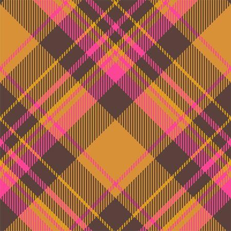 Vector de patrón de cuadros sin fisuras de tartán escocia. Tela de fondo retro. Textura geométrica cuadrada de color a cuadros vintage para impresión textil, papel de regalo, tarjeta de regalo, diseño plano de papel tapiz.