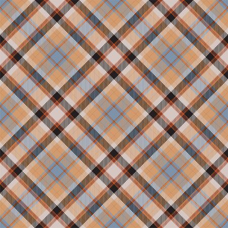 Tartan scotland seamless plaid pattern vector. Retro background fabric. Vintage check color square geometric texture for textile print, wrapping paper, gift card, wallpaper flat design.  イラスト・ベクター素材