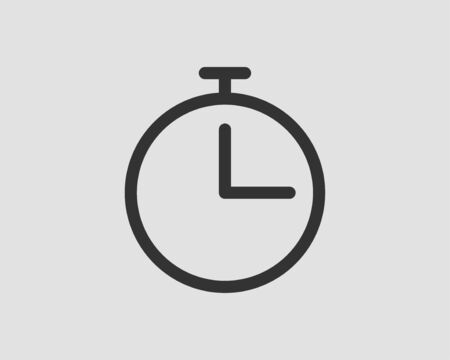 Timer icon. Stop watch vector pictogram. Stopwatch isolated on white background. 向量圖像