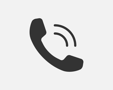 Phone icon vector illustration. Call center app. Telephone icons trendy flat style. Contact us line silhouette.