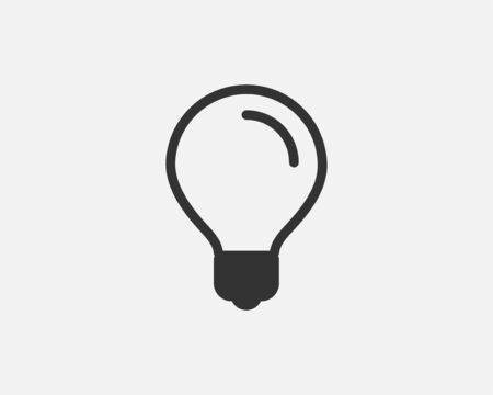 Light bulb icon vector. Llightbulb idea concept. Lamp electricity icons web design element. Led lights isolated silhouette.