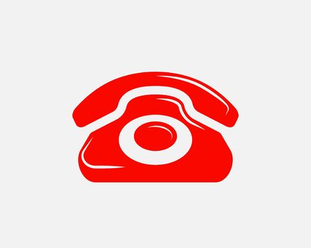 Phone icon vector illustration. Call center app. Telephone icons trendy flat style. Contact us line silhouette. Stockfoto - 129260476
