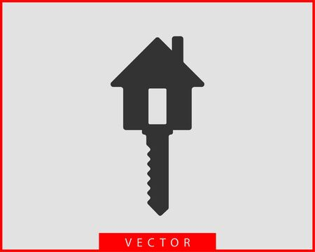 Key icon vector. Keys symbol flat design. Template for sale real estate and renting apartment or house. Stock Illustratie