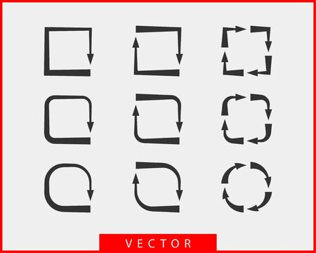 Collection arrows vector background black and white symbols. Different arrow icon set circle, up, curly, straight and twisted. Design elements.