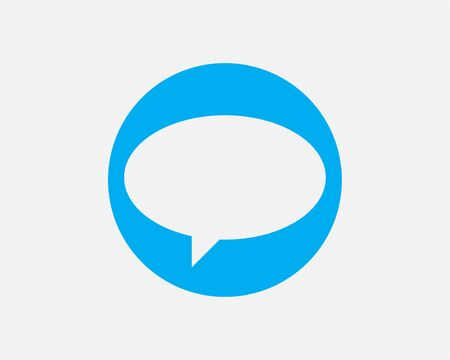 Talk bubble speech icon. Blank empty bubbles vector design elements. Chat on line symbol template. Dialogue balloon sticker silhouette. Standard-Bild - 129813269