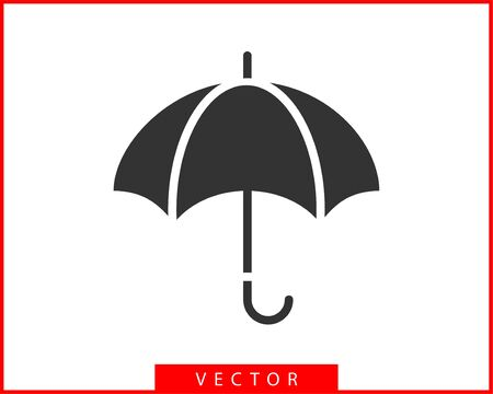 Umbrella icon vector. Rain protection. Concept for insurance company. Black and white silhouette flat design. Illustration