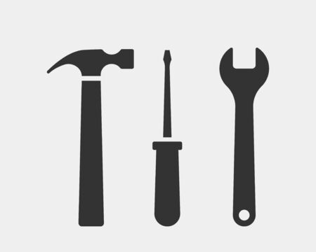 Tools vector wrench icon. Spanner  design element. Key tool isolated on white background Stock Illustratie