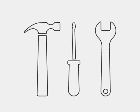Tools vector wrench icon. Spanner design element. Key tool isolated on white background