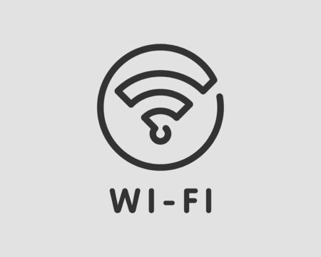 Free wi fi icon. Connection zone wifi vector symbol. Radio waves signal.