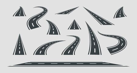 Set street and road vector template isolated on background. Stockfoto - 130992337