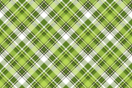 Green fabric abstract modern seamless pattern. Vector illustration.