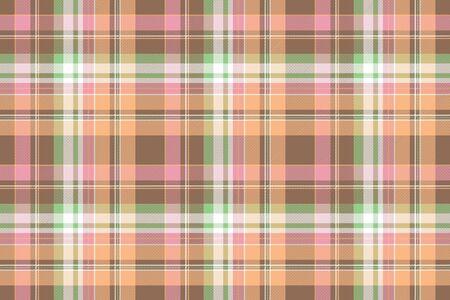 Lite color textile check seamless pattern. Flat design. Vector illustration.