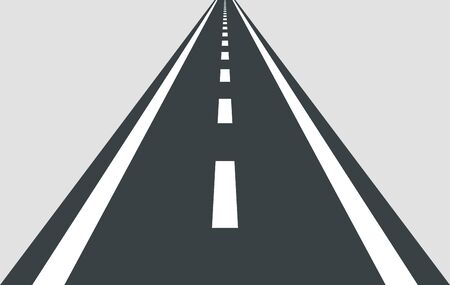 Straight road vector template isolated on background.