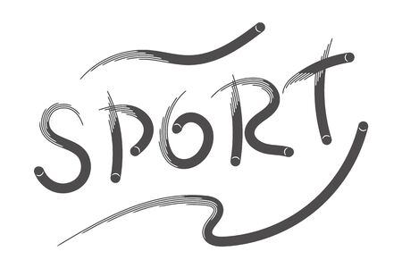 Balls sport brush template isolated on white background for sports design or lettering print and web products.