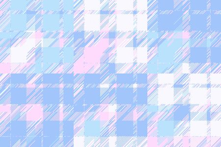 Modern glitch background. Color geometric abstract pattern vector. Damage lines glitches effect wallpaper. Grunge texture plaid. Foto de archivo - 132049748