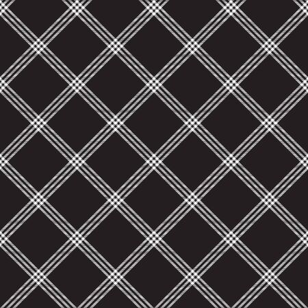 Black white fabric diagonal texture seamless pattern. Vector illustration. Ilustrace