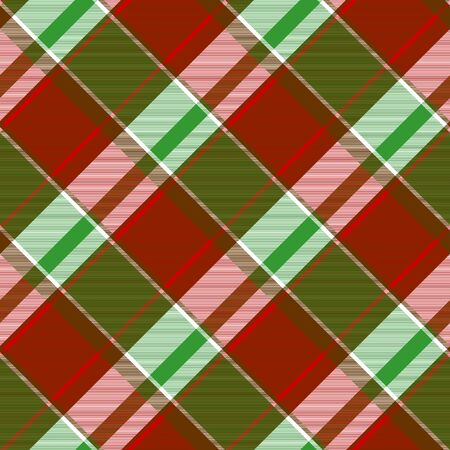 Modern plaid seamless pattern. Vector illustration.