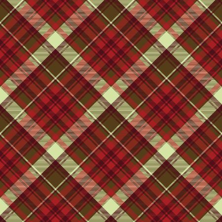 English check plaid fabric texture seamless pattern. Vector illustration.