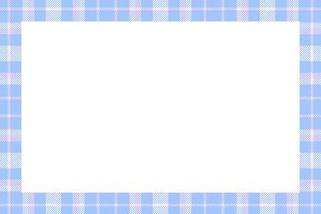 Vintage frame vector. Scottish border pattern retro style. Beauty empty background, template for photo, portrait, album. Tartan plaid ornament. Illusztráció