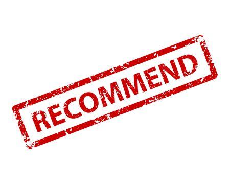 Recommend sign sticker. Stamp  texture Reklamní fotografie - 133767021